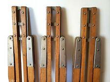 Vintage Wooden Tripod Legs w Heart Shaped Tighteners For Lamp, Camera, Telescope