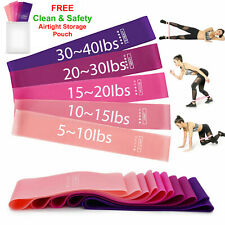 Workout Resistance Bands Loop Set Fitness Yoga Booty Leg Exercise Band + Pouch