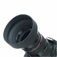77mm Collapsible 3in1 Rubber Lens Hood for Canon Nikon Camera