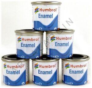 HUMBROL Enamel Model Paint 14ml - ALL COLOURS - Matt Gloss Satin Metallic Airfix