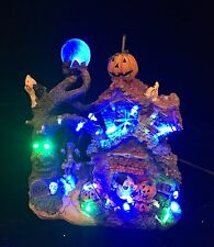 RARE PULEO CO HALLOWEEN  LIGHTED HAUNTED HOUSE Ghosts Pumpkins Ghouls EUC