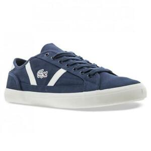 New Men's Lacoste Sideline 119 Canvas Shoes Size 11.5 Navy
