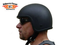 Australian Bikers Gear Low Profile Fiberglass crash Motorcycle Open face Helmet