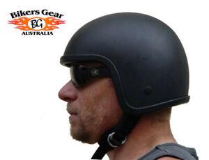 Australian Bikers Gear LowProfile Motorcycle Motorbike crash Open face Helmet
