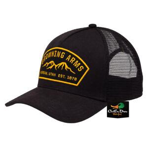 NEW BROWNING RANGER MESH BACK HAT BALL CAP BUCKMARK ARMS PATCH LOGO BLACK
