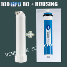 New 100 GPD RO Water Membrane+Housing Replacement Water Purifier for Sale