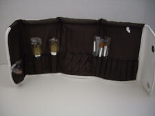 New, Bare Escentuals Minerals Cosmetic Makeup Brush Bag with 6 Brushes