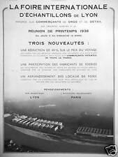PUBLICITÉ FOIRE INTERNATIONALE D'ÉCHANTILLONS DE LYON TROIS NOUVEAUTÉS