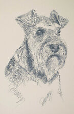 Miniature Schnauzer Dog Art by Kline Word Drawing #47 Your dogs name added free.