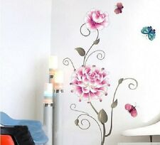 Butterflies over Flowers Home Decor Removable Wall Sticker/Decal/Decoration