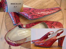 Ashley Brooke Schuhe Damen Schlangenlederoptik rot/schwarz Gr 37 top Zustand