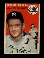 1954 Topps Baseball #96 Charlie Silvera (Yankees) (no creases) VG/VGEX