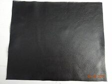 Scrap Leather Genuine cowhide  BLACK  10x12 inches 1 piece  Good Quality New