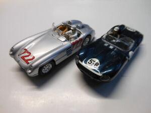 2 x Slotracer Mercedes-Benz SLR und Jaguar XKSS von Carrera 1:32 gebraucht