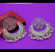 Indian Bollywood Silver Plated Earring Jumka Jumki Traditional oxidized Jewelry