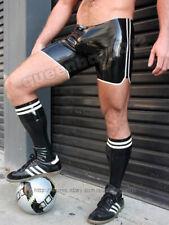 Neu 100% latex Rubber 0.45mm Fußball Shorts und Socken Sport Set Schwarz