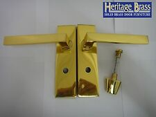 Heritage Brass DELTA Leva Bagno Maniglie Ottone Lucido-NUOVO