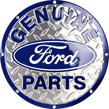 """Ford Genuine Parts 12"""" Embossed Circle Round Sign Made in the USA"""