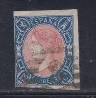 ESPAÑA (1865) USADO SPAIN - EDIFIL 70 (12 cu) ISABEL II - LOTE 2