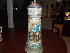 Mettlach Stein-3 Ltr. Old German Drinker w/Saying-2430