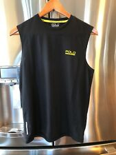 Polo Sport by Ralph Lauren Men's Polyester Black T-shirt, X-Small