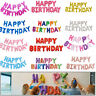 Happy Birthday Balloons Banner Bunting Letter Foil Balloon Party Self Inflating