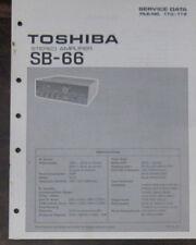 Toshiba SB-66 Amplificateur service repair workshop manual (original)