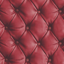 Arthouse Desire Red Leather Headboard Faux Quilted Feature Wallpaper 618101