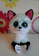 Rare Ty Beanie Boo Boos PIPER Fox Green White Chevron Claires Soft Toy