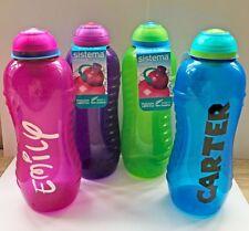 Sistema 460ML Personalised/Name Kids Twist Top Water/Drink Bottle School/Nursery