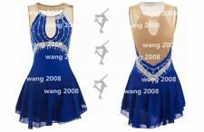 Ice skating dress Competition Figure Skating Costume royal blue