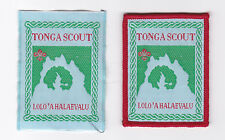 SCOUTS OF TONGA - LOLO'A HALAEVALU SCOUT PATCH (2 VAR.)