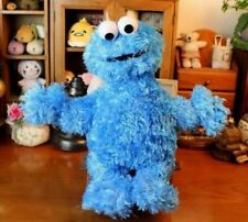 Authentic Sesame Street Cookie Monster Furry Plush Blue Soft Stuffed Toy 32cm