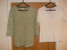 2 tops sz 10 next and gelco clean stylish and ready to step out in cream & jade