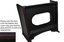 RED Stitch console GRILL RADIO Surround cuoio pelle copertura adatta MG MGB precoce