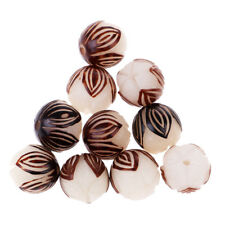 10PCS Natural Wood White Bodhi Seed Lotus Flower Beads for Jewelry Making