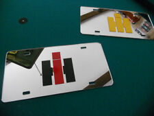 INTERNATIONAL HARVESTER MIRROR TAG DIESEL LICENSE PLATE IH DECAL 4x4 TRUCK