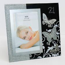 New Happy 21st Birthday Glass Photo Frame Size 10x15cm | Gift for Her | Keepsake