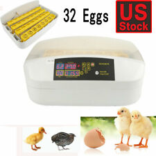 32 Digital Egg Incubator Hatcher Temperature Control Automatic Turning Chicken