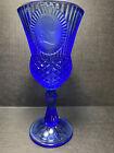 """Vintage 1976 Avon Fostoria George Washington Cobalt Blue Goblet Glass 8"""""""