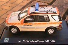 MERCEDES BENZ ML 320 POLICE SUISSE OLIEX SWITZERLAND 1/43 W163 SWISS POLIZEI