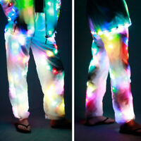 LED Lights Luminous Cool Colorful Casual White Pants Party Shows Dance Props