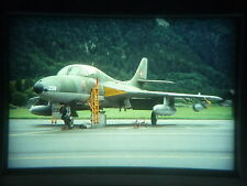 military aircraft slide Swiss Air Force Hunter J-4208 Interlaken 1992 (odw)