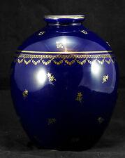Vase bleu de four en porcelaine emaillé en porcelaine de Limoges Gout de ville