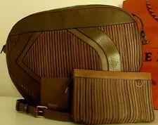 👜 GRAND, EXCELLENT Sac DELVAUX, cuir brun, miroir, pochette, sac de protection.