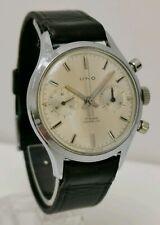 Vtg 1960s UNO Landeron 248 Chronograph 17 Jewels Gents Chrome Cased Wrist Watch