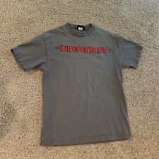 VTG Independent Trucks Gray T Shirt Size Medium Skateboarding Faded Distressed