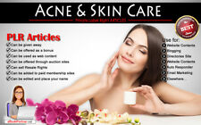 500+ PLR Articles on Acne and Skin Care Niche Private Label Rights