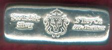 """""""Scottsdale Silver""""--5 Troy Ounce .999 Fine Silver Bar"""