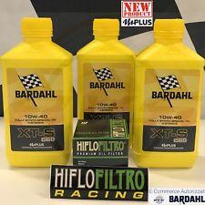 3 Litri BARDHAL XT-S XTS C60 10W40 Olio Moto Sintetico NEW mPlus + Filtro HiFlo
